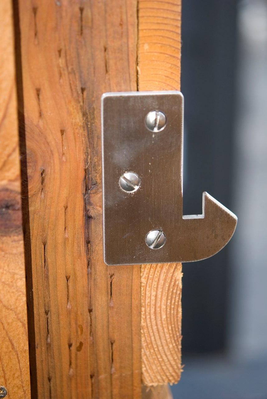 Elise Modern Stainless Steel Ring Gate Latch Latch Side